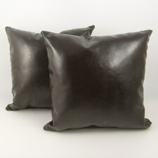 Faux Leather Pillow (Set of 2)