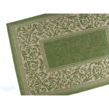 Entwined Emerald Indoor/Outdoor Rug