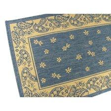 Paisley Blue Floral Indoor/Outdoor Rug