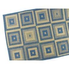 Pyramid Blocks Blue Indoor/Outdoor Rug