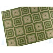 Pyramid Blocks Emerald Indoor/Outdoor Rug