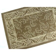Scroll Chocolate Indoor/Outdoor Rug