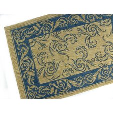 Scroll Blue Indoor/Outdoor Rug