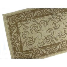 Scroll Honey/Chocolate Indoor/Outdoor Rug