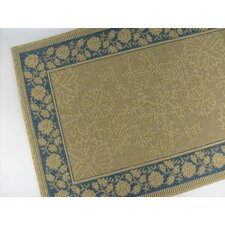 Summer Vine Honey/Blue Indoor/Outdoor Rug