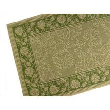 Summer Vine Honey/Emerald Indoor/Outdoor Rug