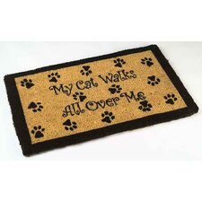 My Cat Walks Outdoor Coir Doormat