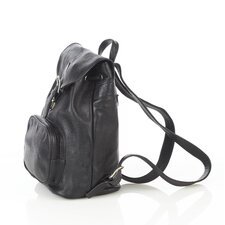 <strong>Aston Leather</strong> Backpack with Zippered Pocket