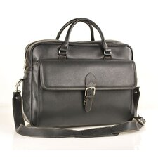 <strong>Aston Leather</strong> Leather Laptop Briefcase