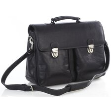 Single Compartment Briefcase in Black