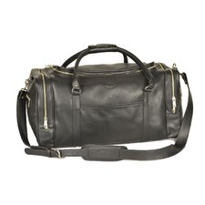 "22"" Leather Travel Duffel"