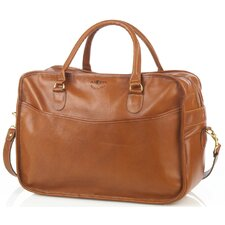 "18"" Leather Overnight Travel Duffel"
