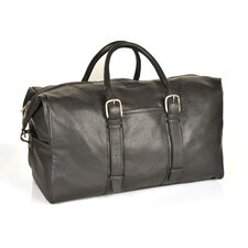 "20"" Leather Weekender Carry-On Duffel"