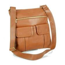 Slim Shoulder Bag with Top Zipper