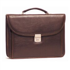 <strong>Aston Leather</strong> Small Leather Briefcase