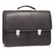 Two Pocket Leather Briefcase