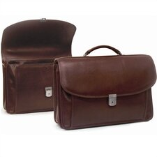 Leather Briefcase with Large Front Pocket