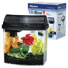 <strong>Aqueon</strong> Mini Bow Desktop Aquarium Kit - 1 Gallon