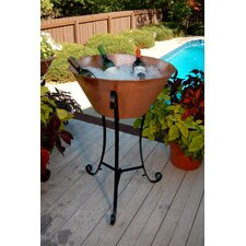 Large Copper Beverage Stand with Stand