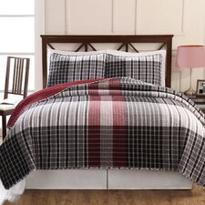 Plaid Quilt Set