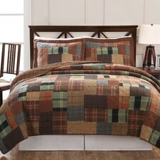 Jewel Tone Plaid Quilt Set