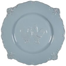 "12"" Embossed Rooster Dinner Plate"