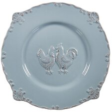 "12"" Embossed Rooster Salad Plate"