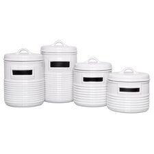 4 Piece Can Shaped Canister Set (Set of 4)