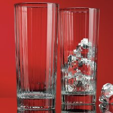 Red Series 14 Oz. Striped Highball Glass (Set of 4)