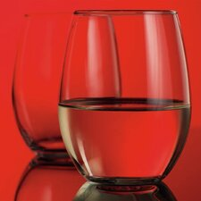 <strong>Home Essentials</strong> Red Series 15 oz. Stemless Glass (Set of 4)
