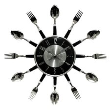 "17"" Bezel Utensil Wall Clock"