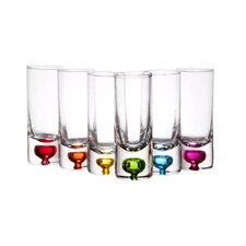 2.5 oz.. Giggle Vodka Shot Glass (Set of 6)