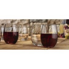 <strong>Home Essentials</strong> Vino 21 oz. Stemless Goblet (Set of 12)