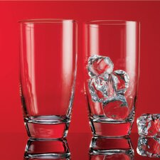Red Series 16 oz. Round Hiball Glass (Set of 4)