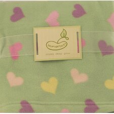 Micro Polar Hearts Blanket
