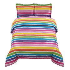 Rainbow Stripe Comforter Set