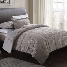 Big Zebra Embossed Comforter Set