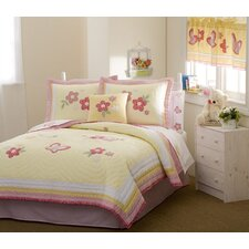 Golden Trail Twin Quilt with Pillow Sham
