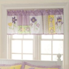 Patch of Flowers Rod Pocket Tailored Curtain Valance