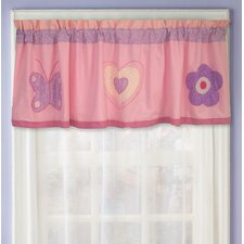 Spring Hearts Cotton Curtain Valance
