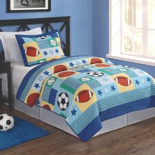 Sport Multi 2 Piece Twin Quilt Set