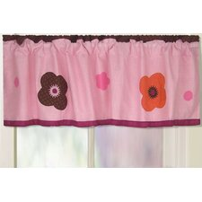 <strong>My World</strong> Flowers For Hanna Cotton Curtain Valance