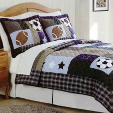 Sports Collage Quilt Set