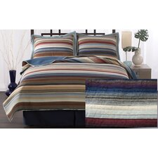 Retro Stripe Cotton Quilt