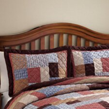 Rustic Plaid Patchwork Sham
