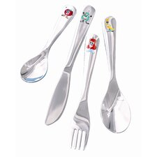 Happy Heads 4 Piece Children's Cutlery Set