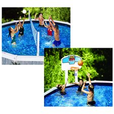 Pool Jam In-Ground Volleyball / Basketball Combo