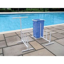 Raft Caddy with Hamper in White