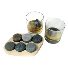 9 Piece On the Rocks Granite Chillers Set