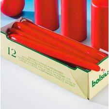 Spitzkerze in Rot (Set beinhaltet 12)